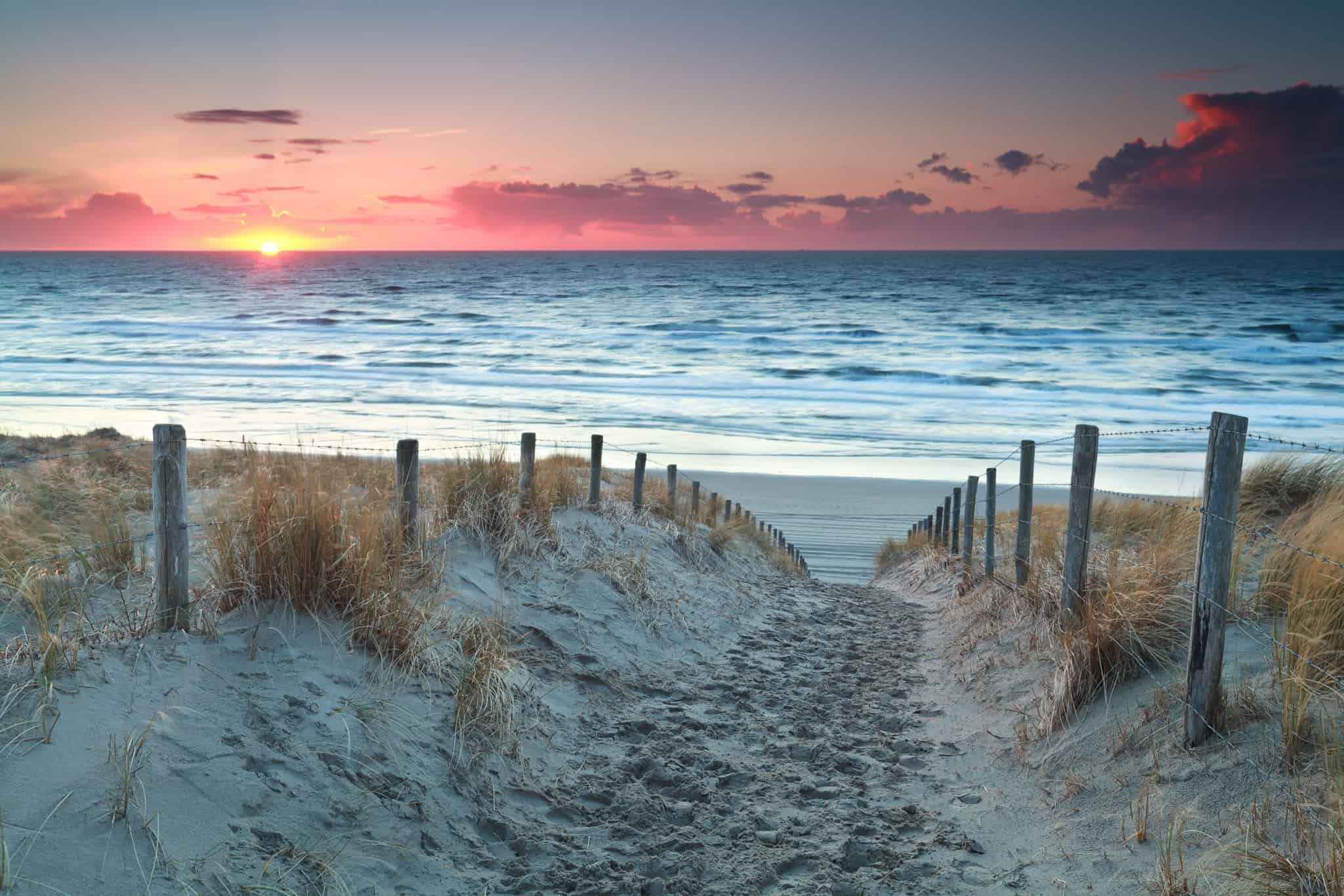 Sonnenuntergang am Strand bei Zandvoort