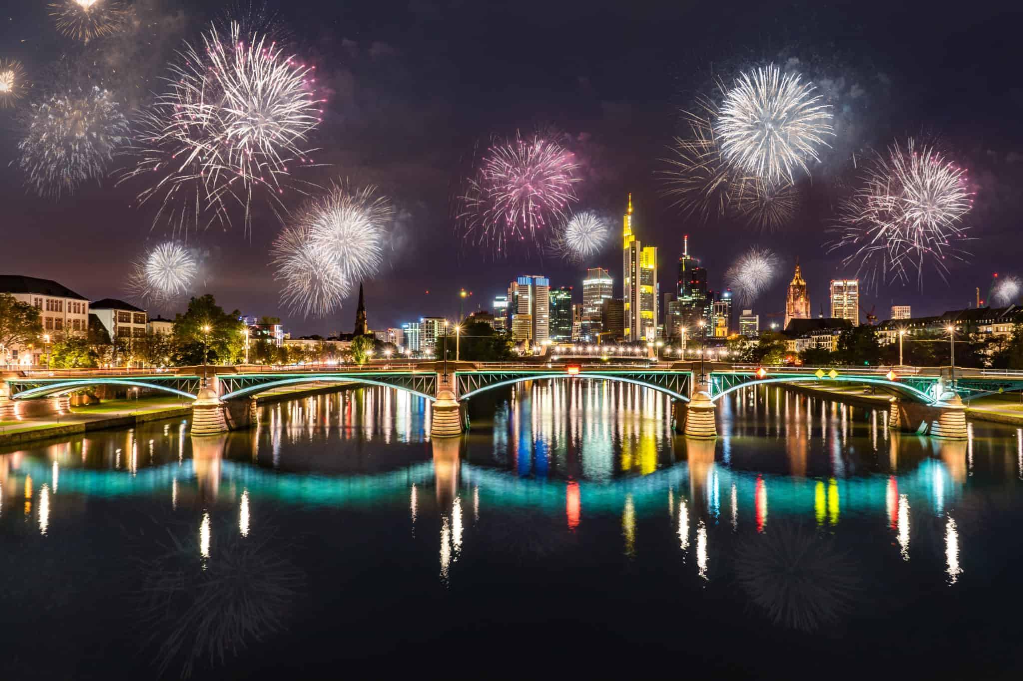 Silvester Feuerwerk in Frankfurt