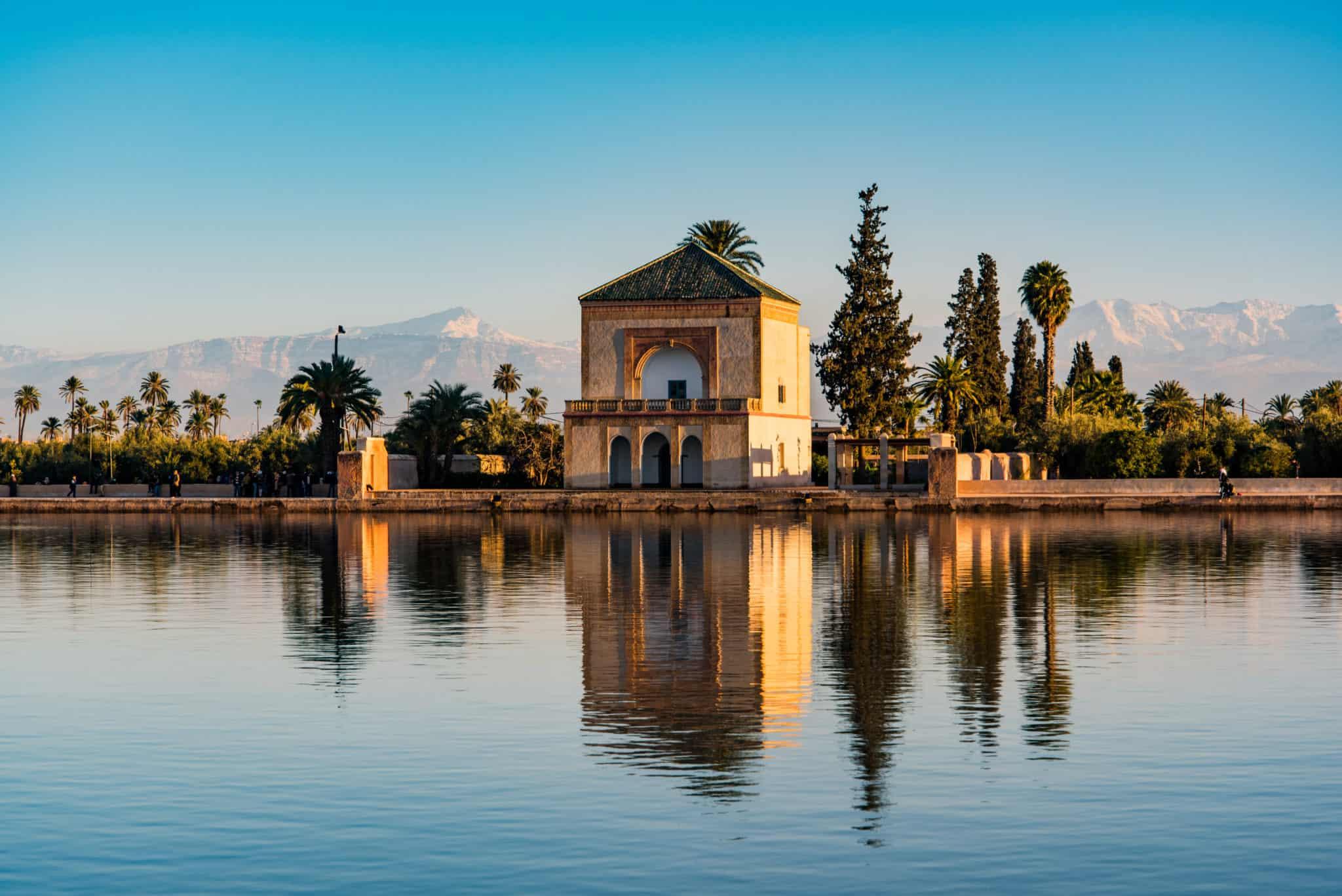 Pavillon im Menara Garten von Marrakesch