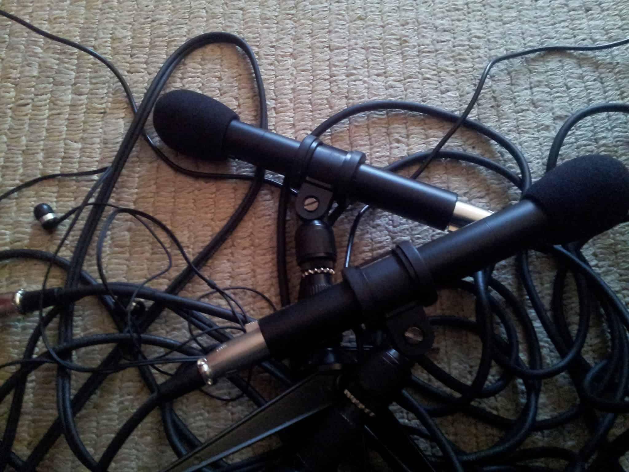 Kabel und Mikrofon