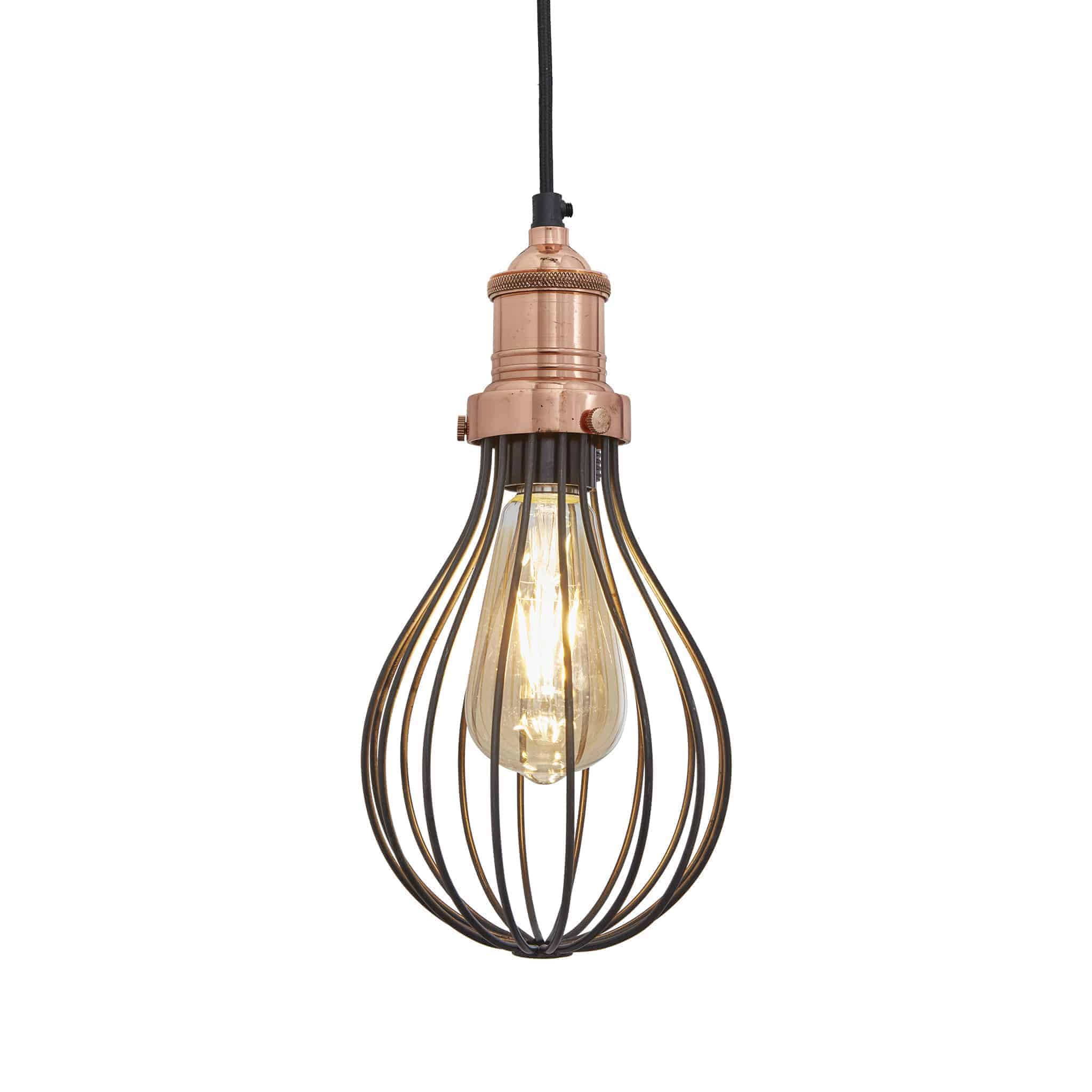 Industville Brooklyn Balloon Cage Pendant – Copper Holder