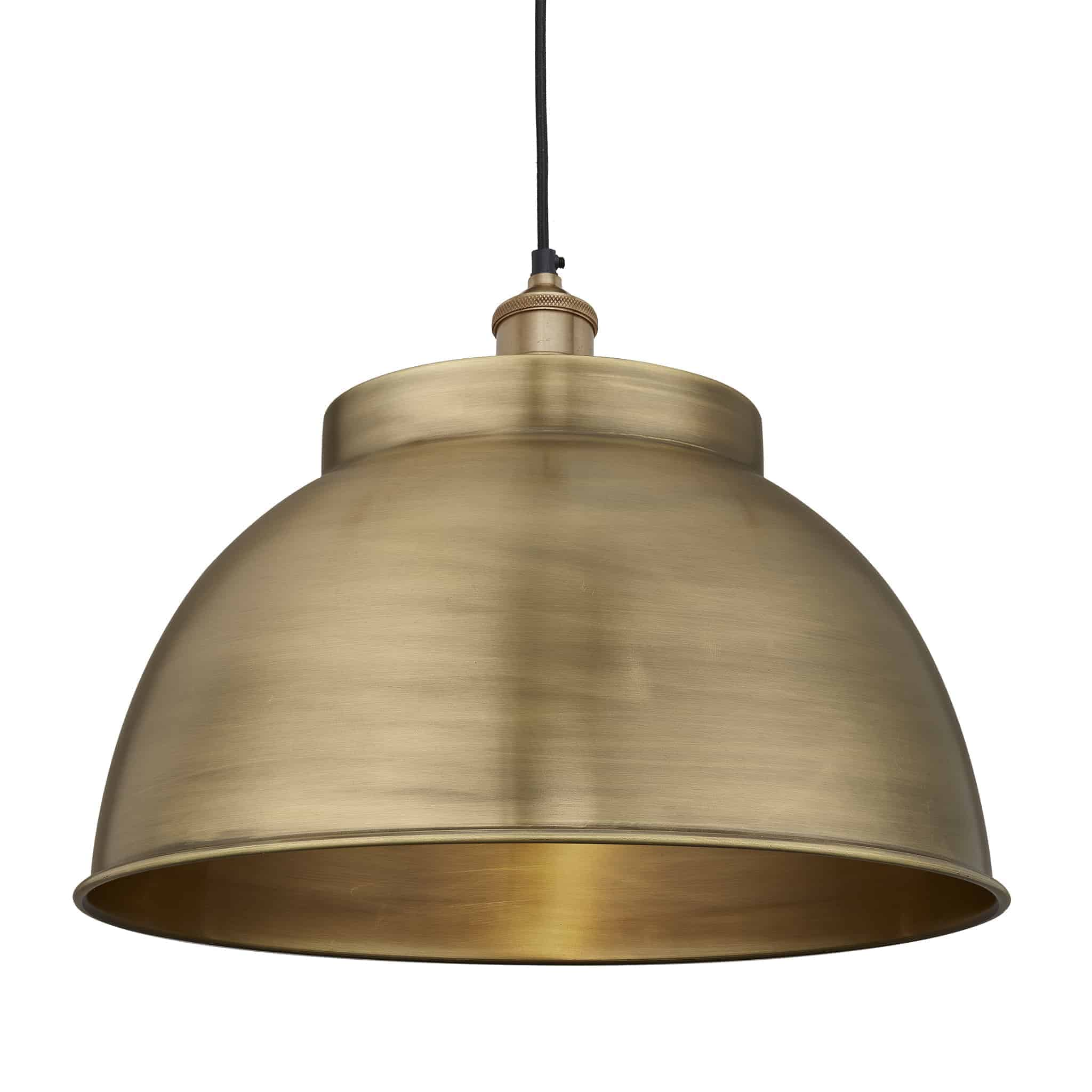 Industville Brooklyn Dome Pendant – 17 Inch Brass