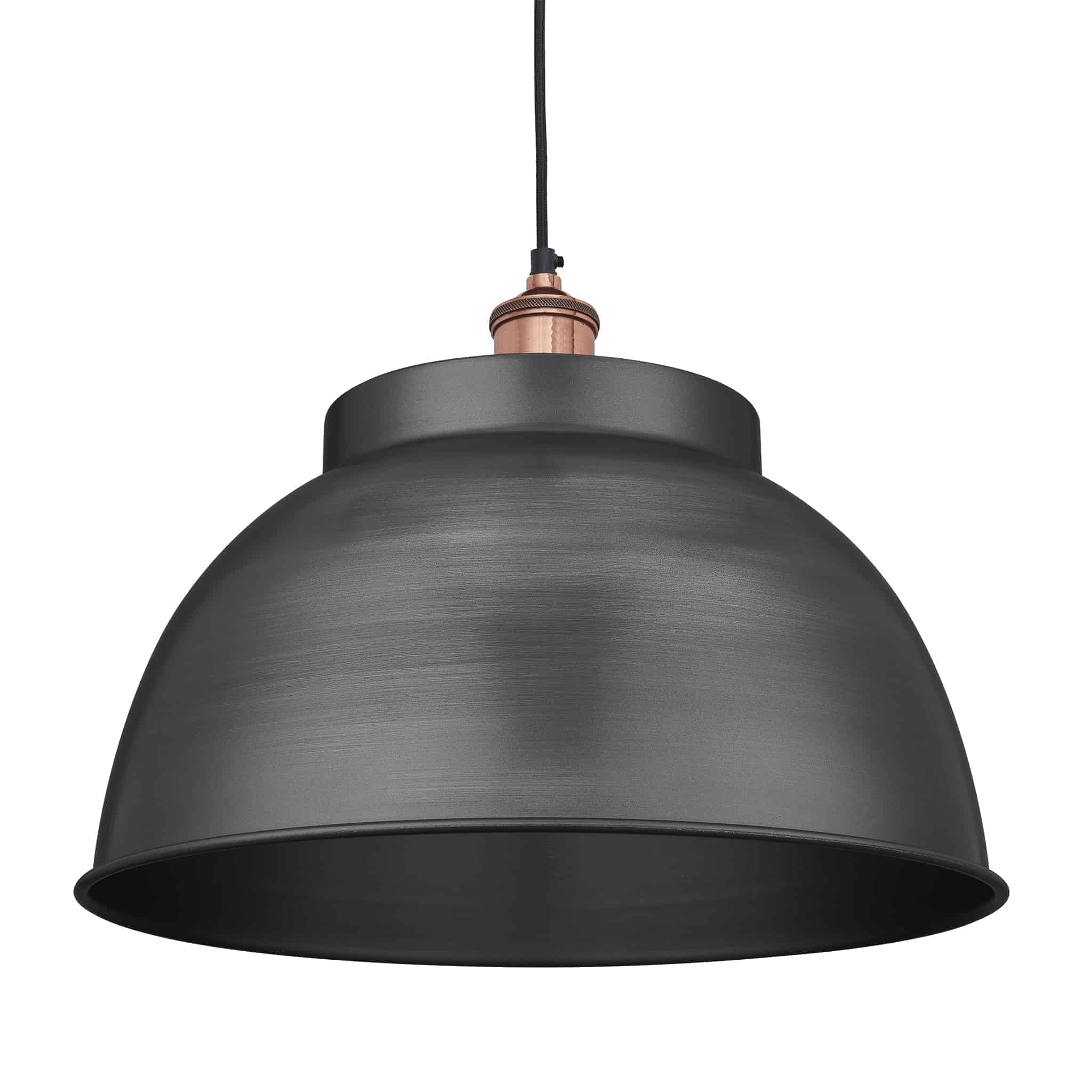 Industville Brooklyn Dome Pendant – 17 Inch Copper Holder