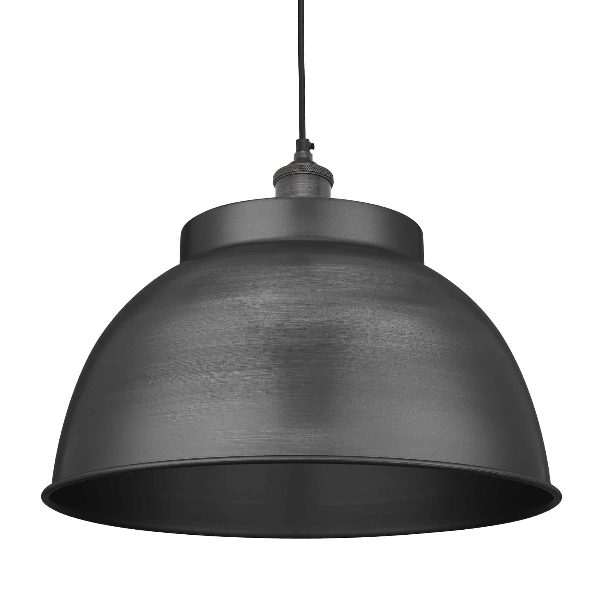 Industville Brooklyn Dome Pendant – Pewter Holder