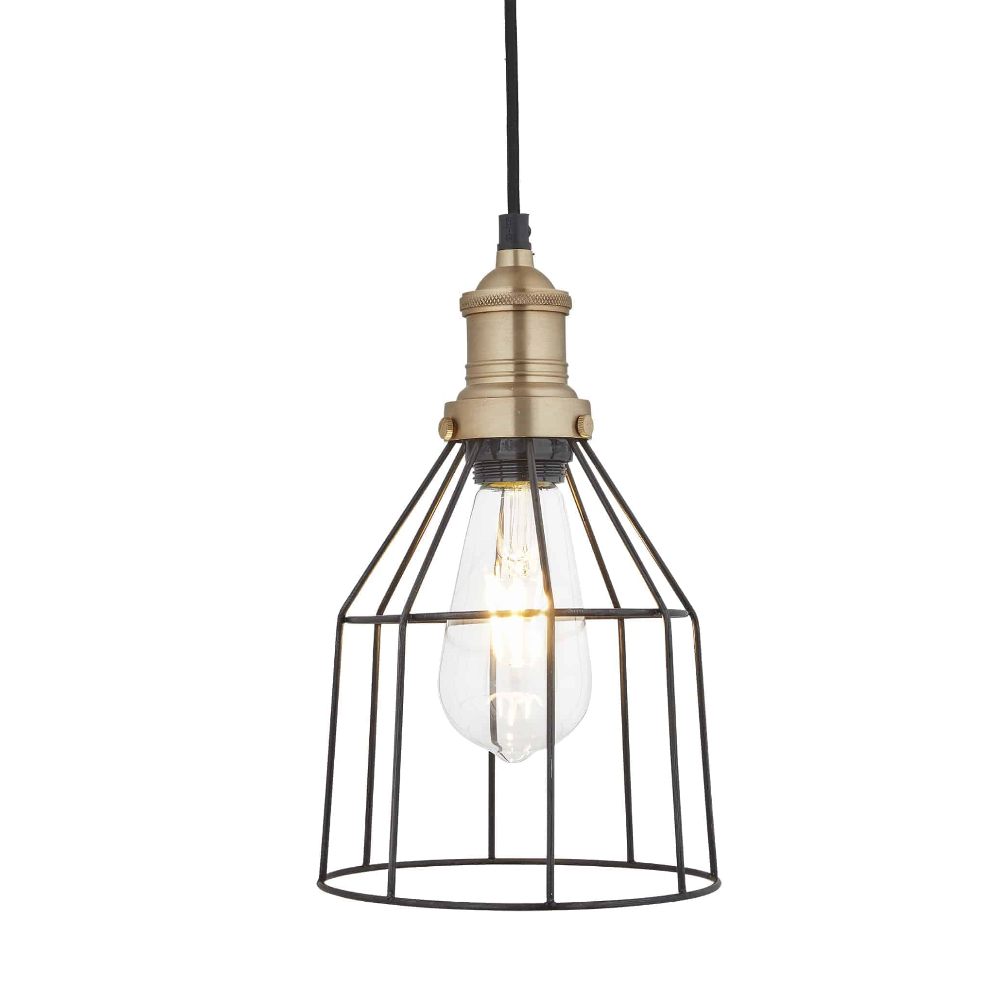 Industville BR-WCP6-P-CN-BH Wire Cage Pendant