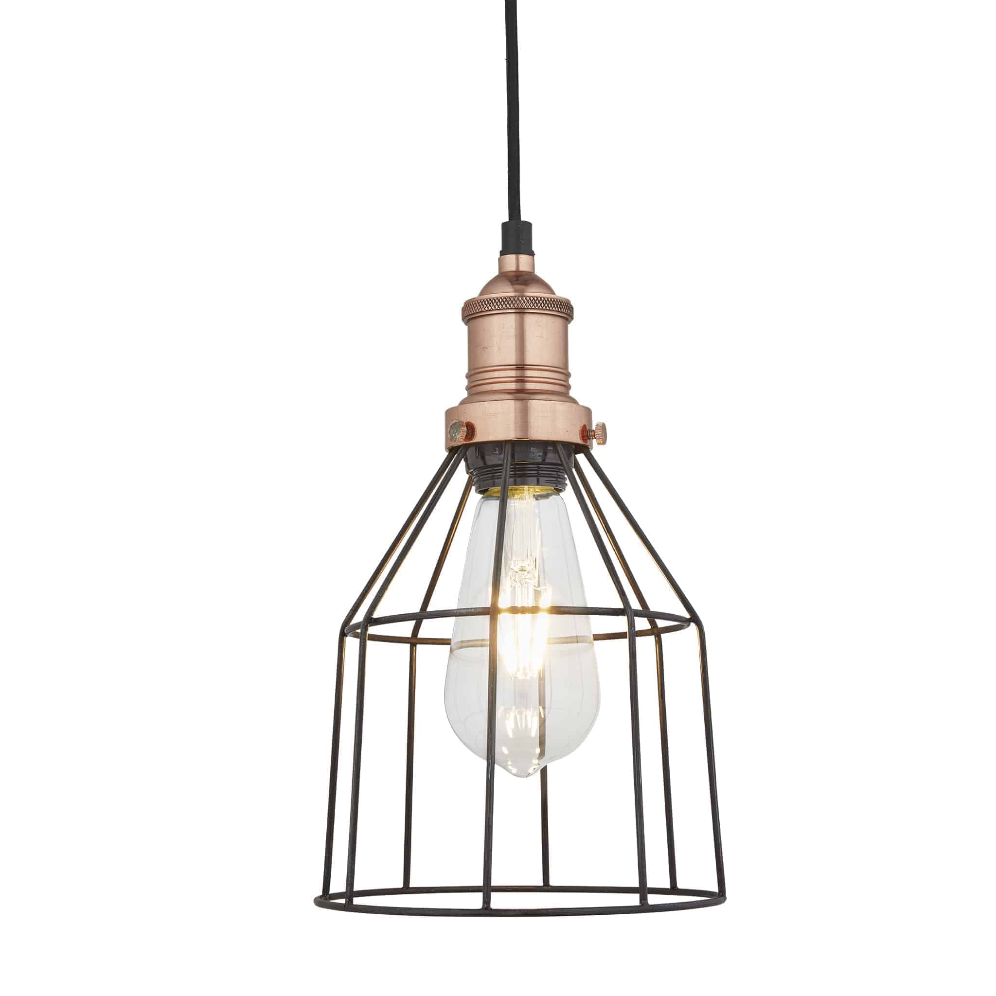Industville BR-WCP6-P-CN-CH Wire Cage Pendant