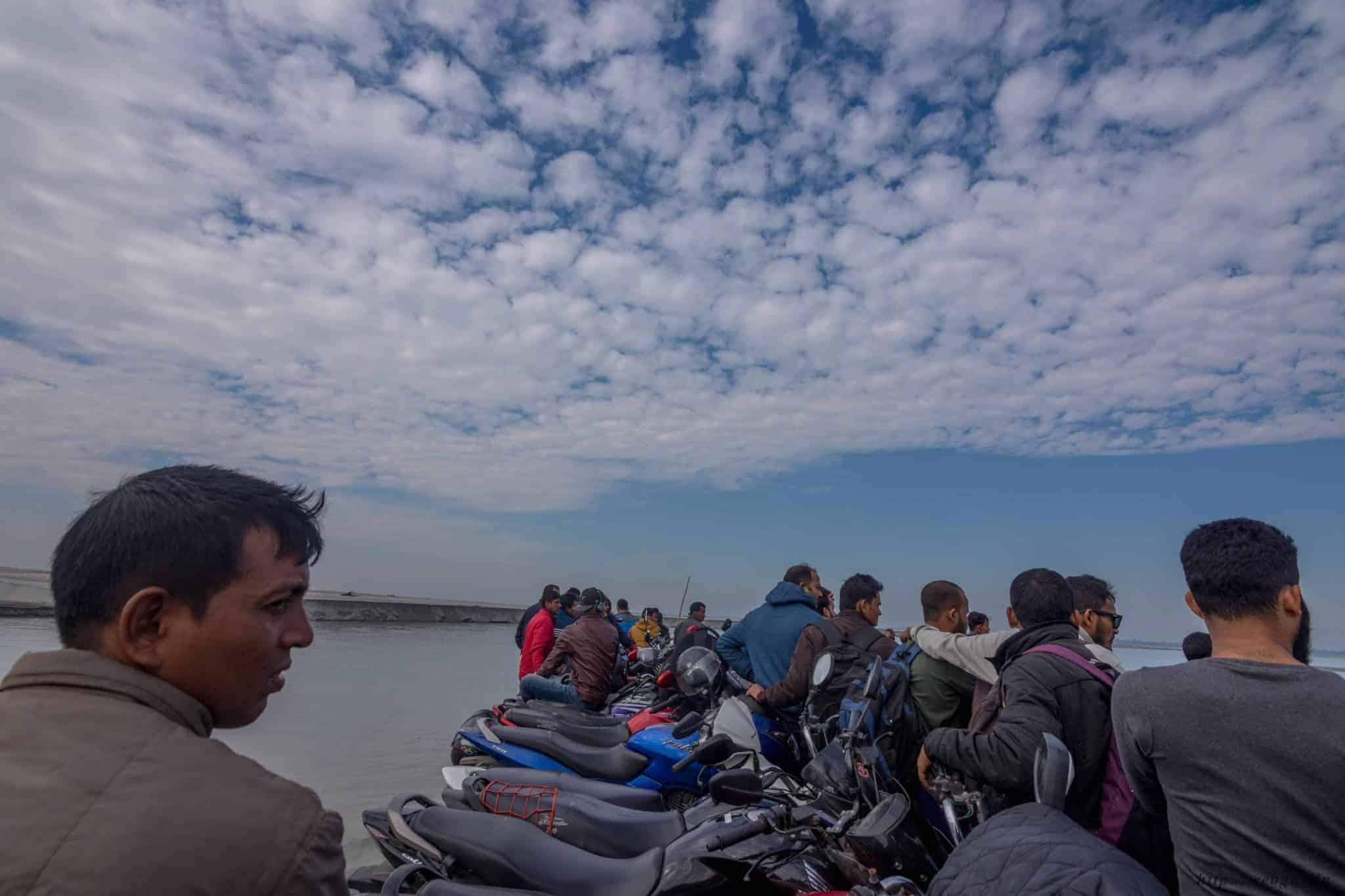 Reaching the Majuli Islands by Ferry