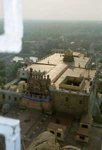 Ganesh temple view from top at Rock Fort