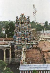 Meenekshi temple rooftop view
