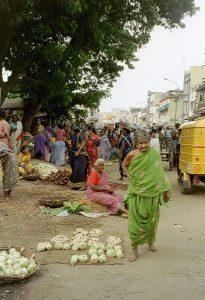 outdoor vegetable market Madurai