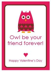 Owl Valentine's Day Cards - Free Printable by Amy Locurto at LivingLocurto.com