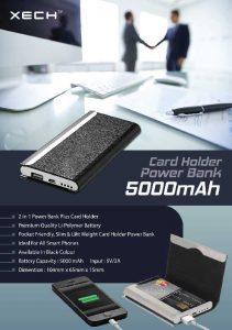 Card Holder with Powerbank - 5000mah