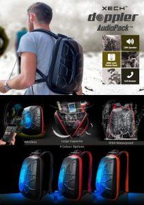 Backpack with 6000mah Powerbank & Bluetooth Speaker