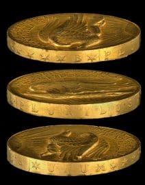 Goldmünze, High Relief, Double Eagle