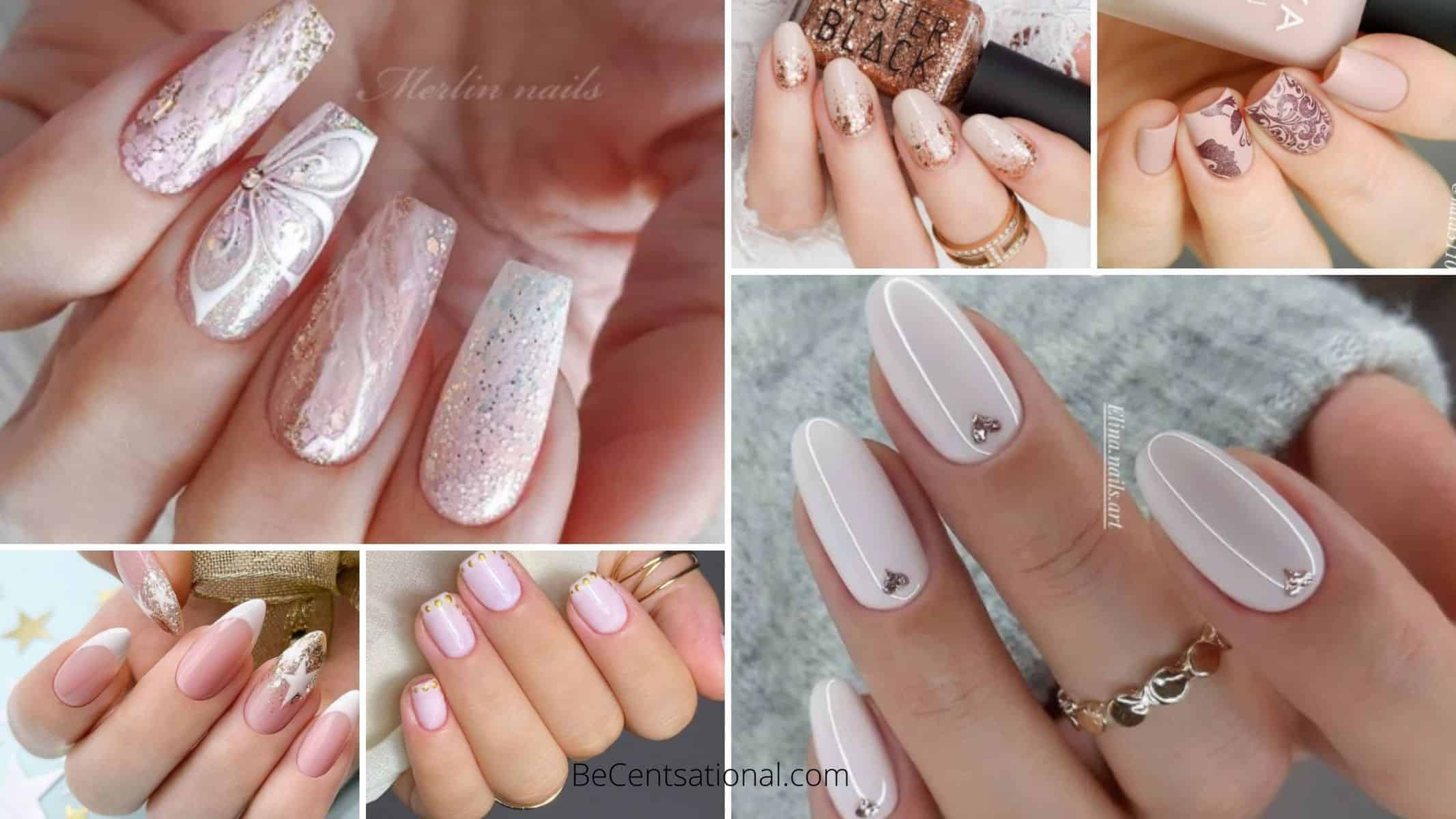 Neutral nail art design
