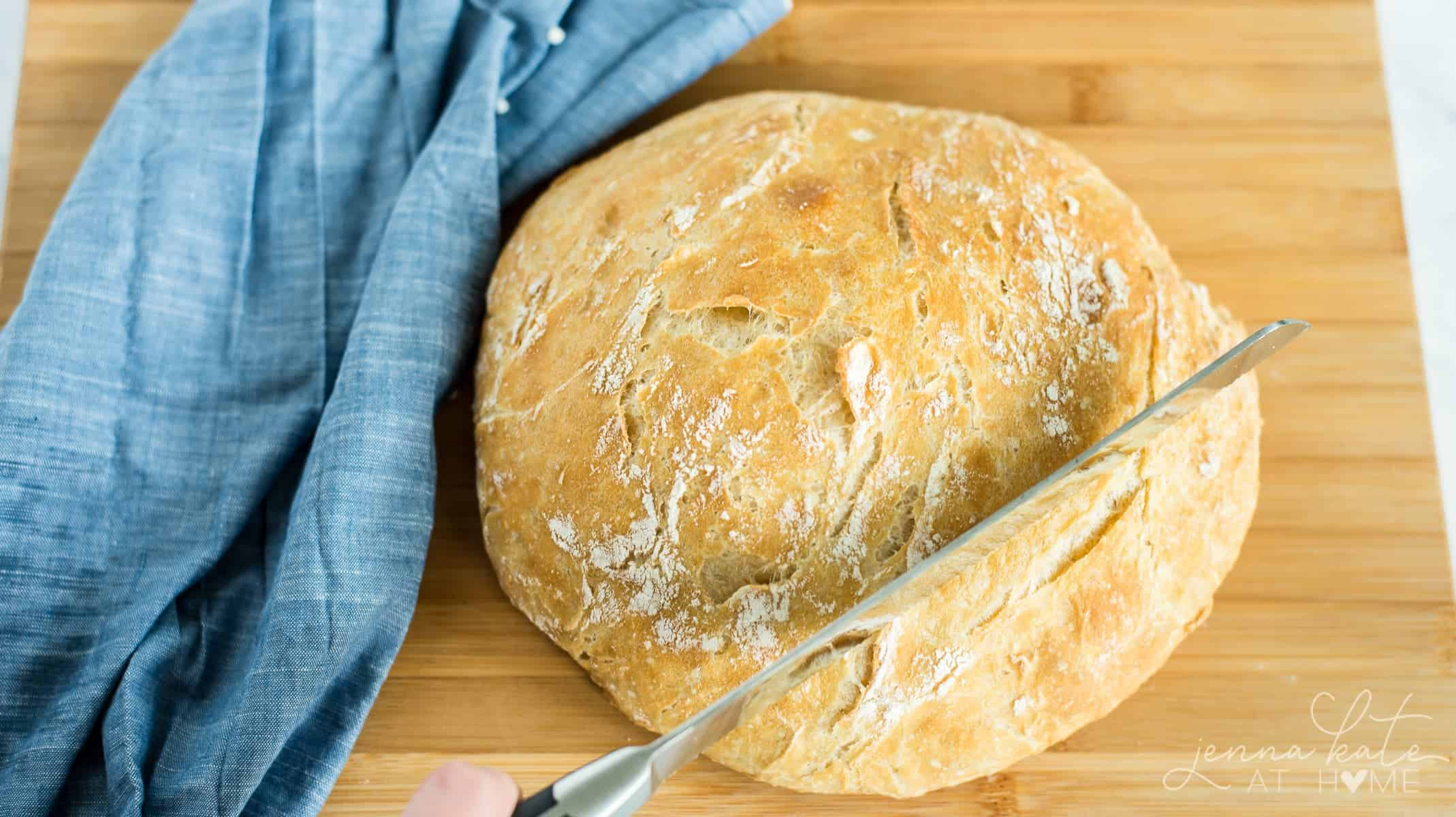 How to make a no knead bread in a dutch oven