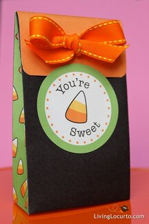 Candy Corn Treat Bag for Fall and Halloween