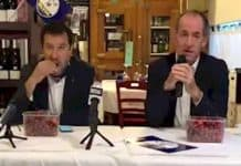 Salvini-Zaia per la rielezione ma è polemica: mentre uno parla di bimbi morti l'altro mangia ciliege