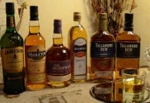 A selection of some Premium Irish Whiskies - The Irish Place