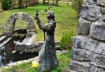 Statue of St Brigits at St Brigits Holy Well, Kildare - The Irish Place