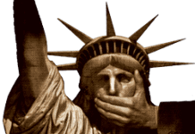 Liberty gagged - no free speech