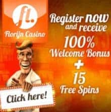 Florijn Casino 15 free spins - no deposit bonus