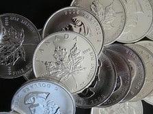 Maple-Leaf-Silbermünzen