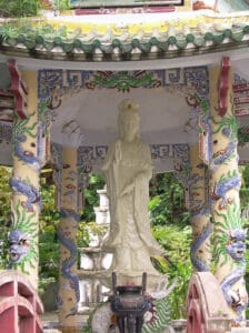 marble statue of godess in Da Nang