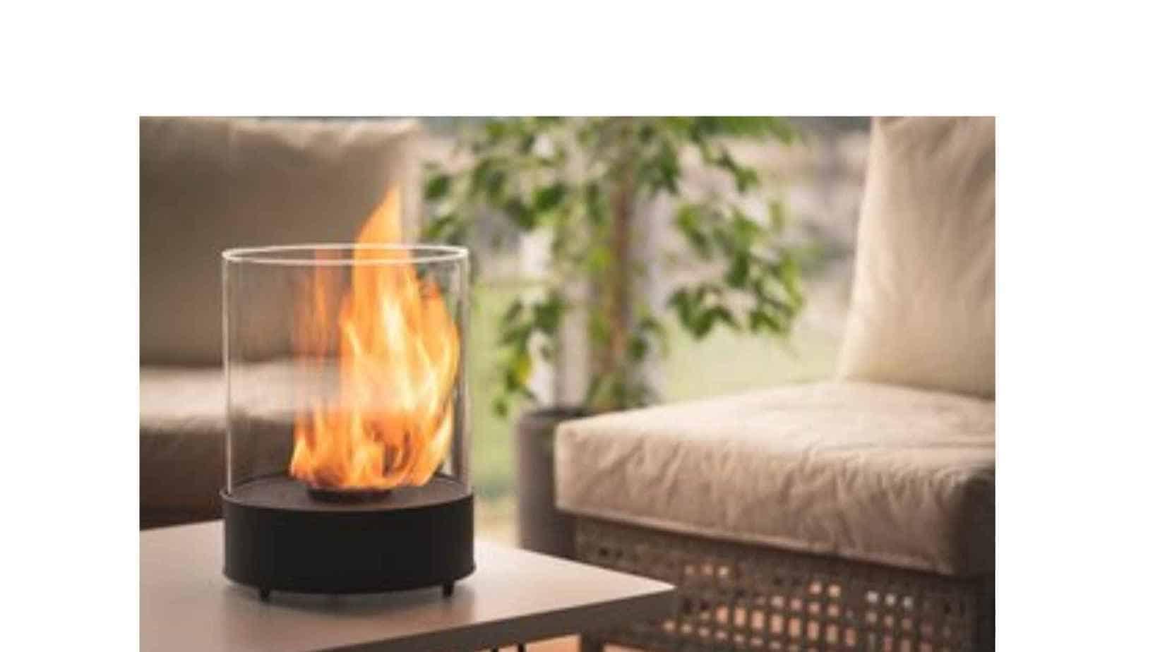 bioethanol tabletop fire