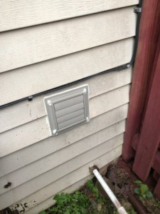 dryer vent cover closed