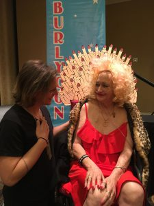 """Camille 2000 in her """"throne"""" at the 2019 BHoF Weekender"""