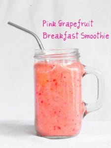 pink grapefruit breakfast smoothie