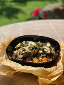 Seebarsch auf Gemüse mit DirektNatur Kochtüte