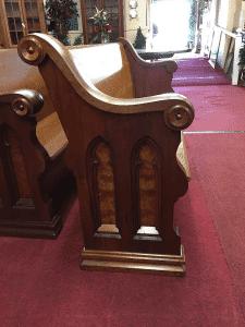Antique Walnut Church Pews