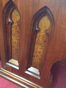 gothic antique church pew