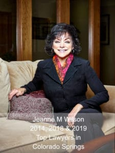 Jeanne M Wilson - Top lawyer in Colorado Springs, 2014, 2018 and 2019