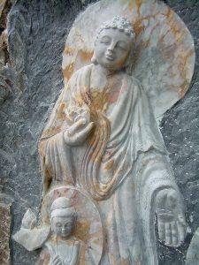 Buddha sculpture at Marble Mountains in Da Nang