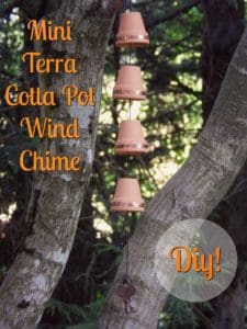 mini terra cotta pot wind chime diy
