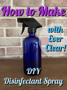 how to make disinfectant spray with alcohol