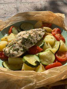 Schnelle Gerichte - Hähnchenbrust auf Gemüse