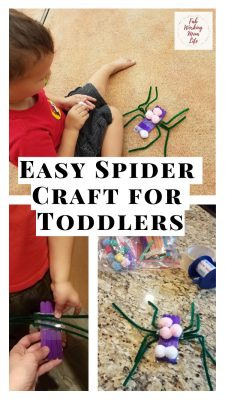 Easy Spider Craft for Toddlers