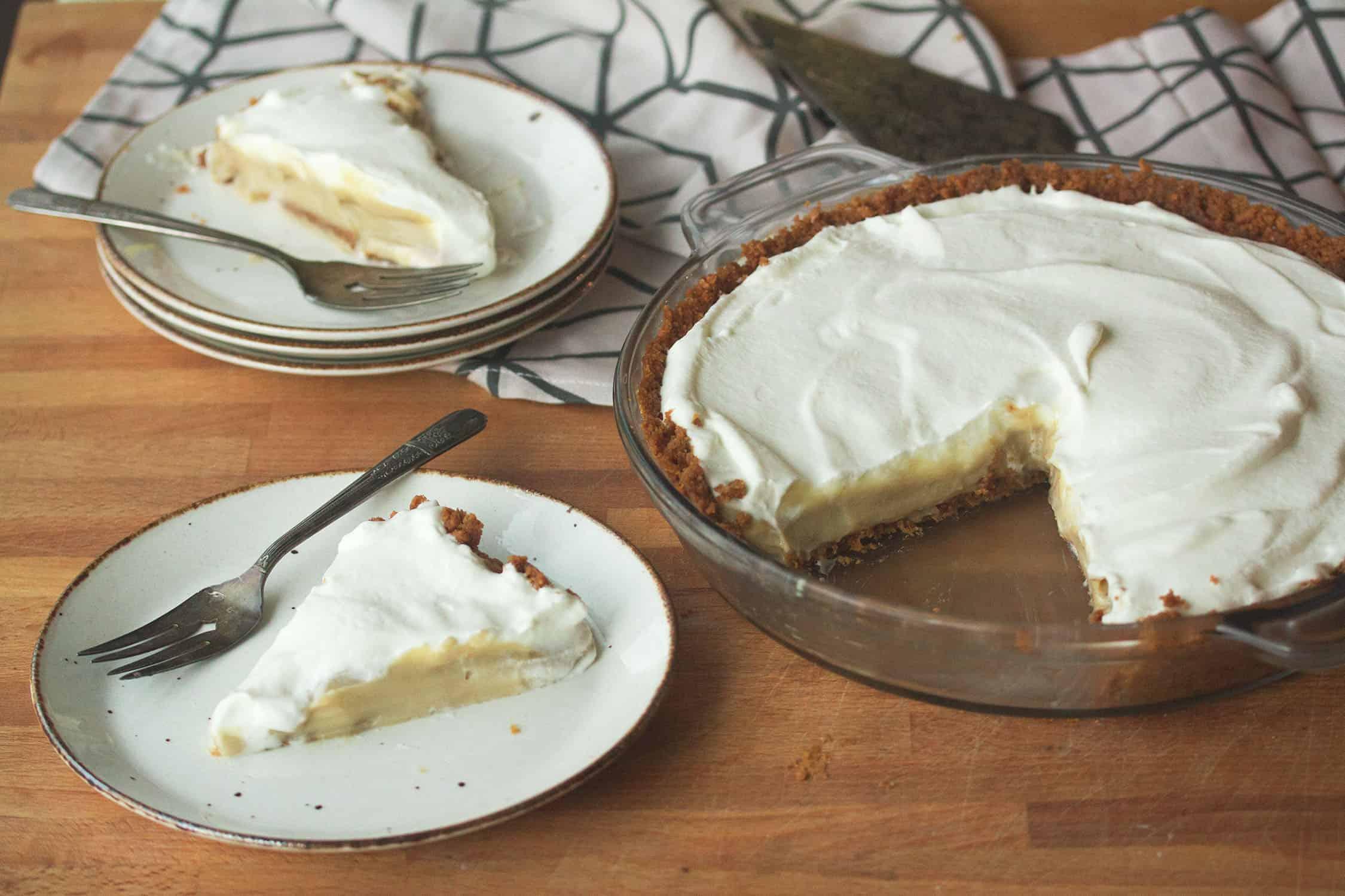 Butterscotch-Bourbon Cream Pie