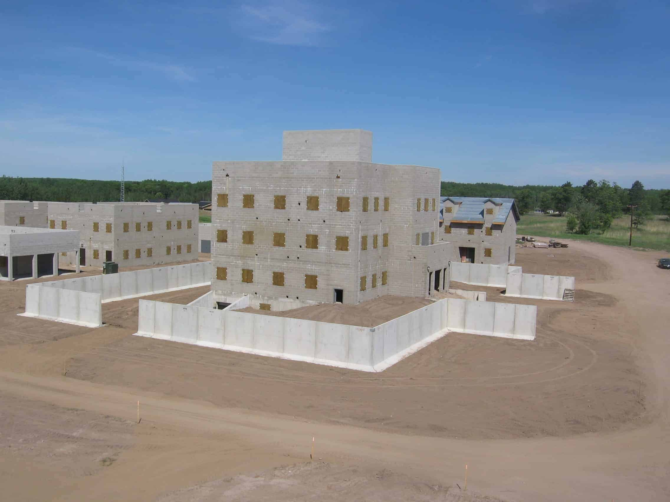 Camp Ripley Training Facility Security Walls by Wieser Concrete
