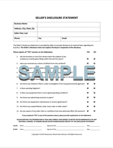 SELLER DISCLOSURE FORM