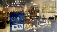 Shop with open for Visa transactions image