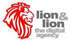 lion and lion logo