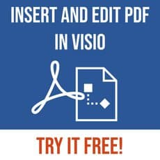 Insert PDF in Visio free trial