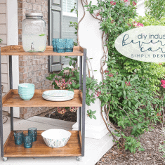 DIY Industrial Outdoor Beverage Cart