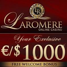 LaRomere Casino - 375% up to $/€1,000 bonus & free spins - bitcoins!