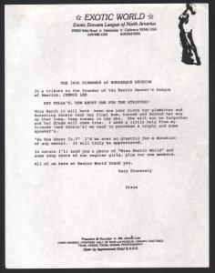 Exotic World Newsletter 1991